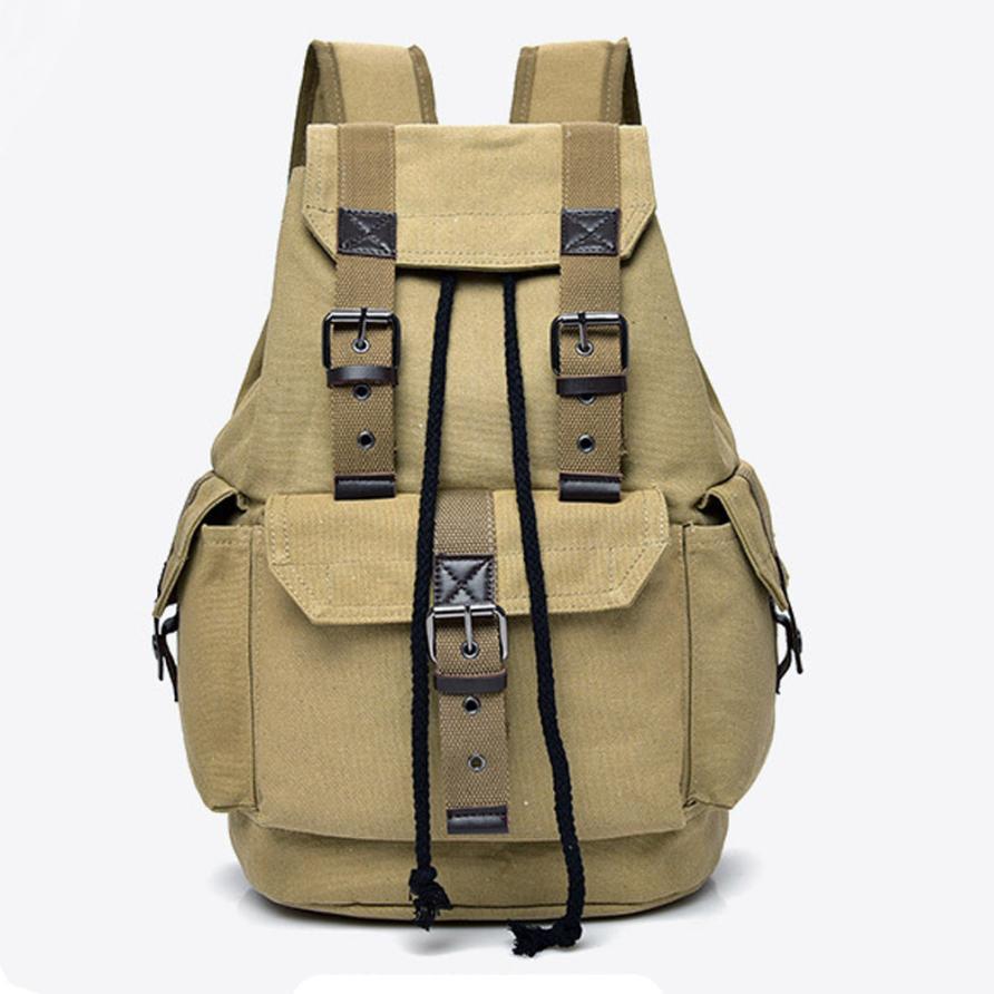 Women'stravel Canvas Backpack Rucksack School Satchel Bag Unisex Backpacks Year Gifts High School Black Bag