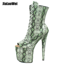 Women Platform Ankle Boots Thin Heels Peep Toe Spring Autumn Pole Dancing Stiletto Boots women spring autumn peep toe with tassel ankle boots ankle lace up flock fringe women spring autumn peep toe ankle boots