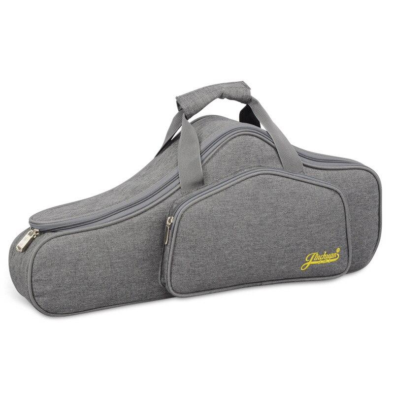 ポータブル耐水性アルトサックスサックスバッグケース 15 ミリメートル厚みのパッド入りダブルジッパー調節可能なショルダーストラップポケット  グループ上の スーツケース & バッグ からの 楽器バッグ & ケース の中 1