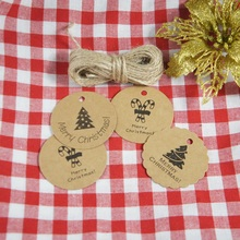 50pcs Merry Christmas theme mixstyle gift design paper labels packaging decoration tags Scrapbooking Craft Paper  DIY