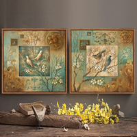 Bird Oil Painting Canvas Wall Art Home Decor Living Room Bedroom Artists Peach Branch Office On