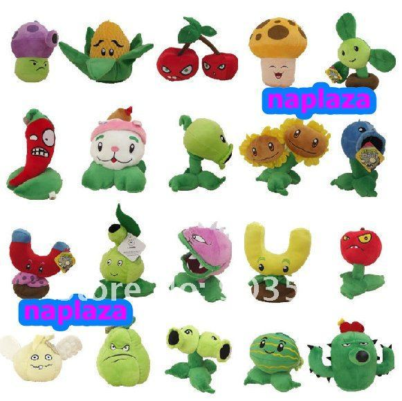"Free Shipping 8 "" Plants VS zombies Stuffed Plush Toy   (20 pcs/Lot  )"