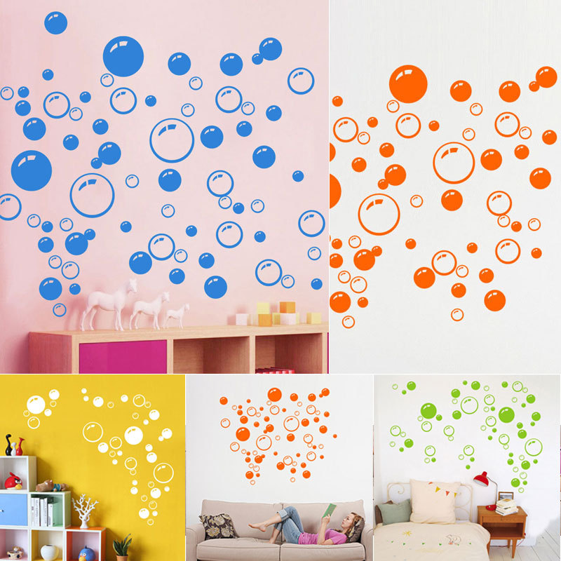 2016 Hot Sale Bubbles Wall Art Sticker Bathroom Shower Decor ...