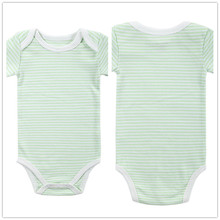 Baby Boy Girl Clothes Short Sleeve Striped 2016 Summer Baby Romper Green Newborn Next Jumpsuits & Rompers Baby Product r041