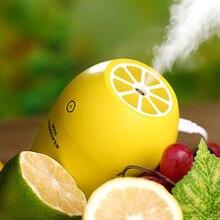 New Lemon Cool Mist Humidifier Personal Mini Portable Night Light USB Creative Air Humidifier Facial Skin