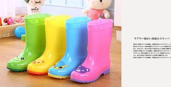 Children's Water Shoes Waterproof Children Rainboots Soild Candy Colors Rubber Warm Boys Girls Rain Boots Children Rain Shoes