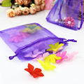 5x7cm Dark Purple Gift Bag 500pcs/Lot Satin Organza Bags For Packaging Rings Can Be Customized Logo