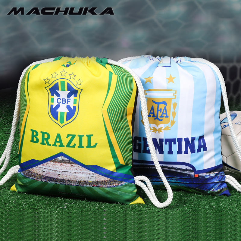 MACHUKA 2018 Russia Football Fans Bag Men Basketball Backpack For Teenager Boys Soccer Bags Male 32 Countries Large capacity