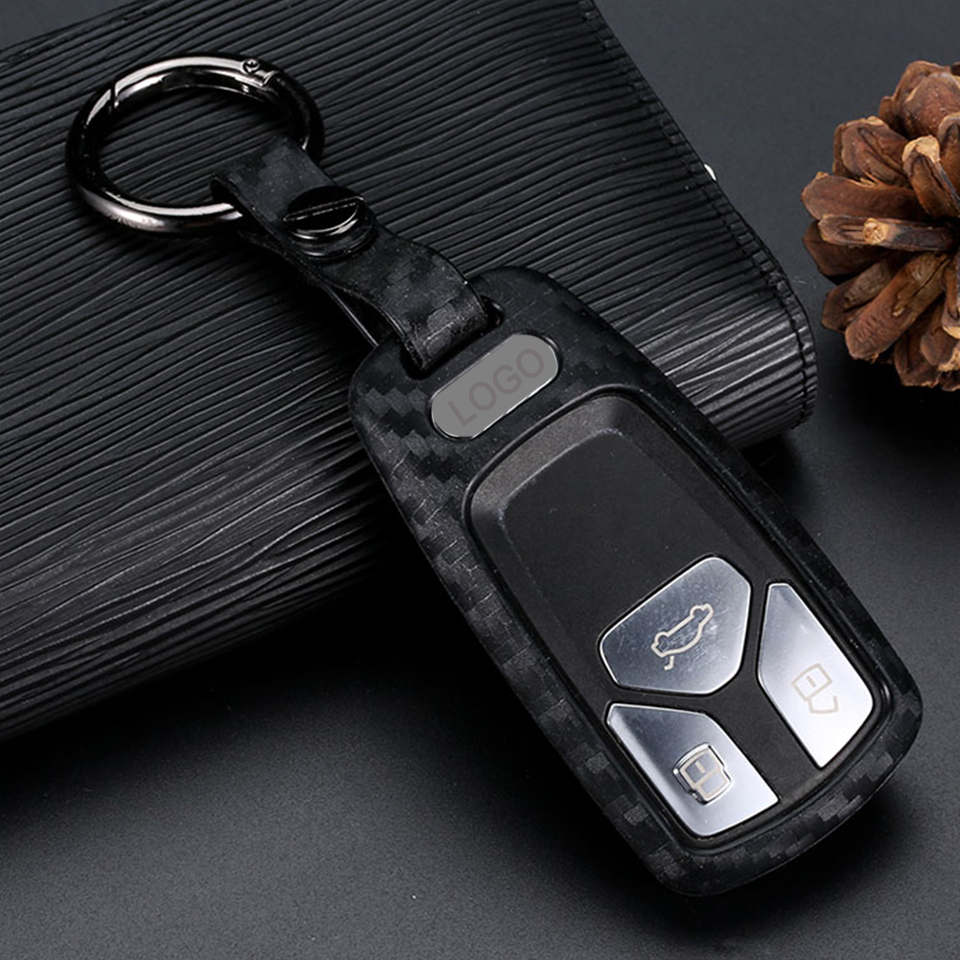 Interior Accessories Generic KUKAKEY Leather Car Key Case Key Bag Key Cover for Audi B6 B7 B8 A4 A5 A6 A7 A8 Q5 Q7 R8 TT S5 S6 S7 S8 SQ5 Key Fob Cover Case Color Name 3 Button Brown Size Black