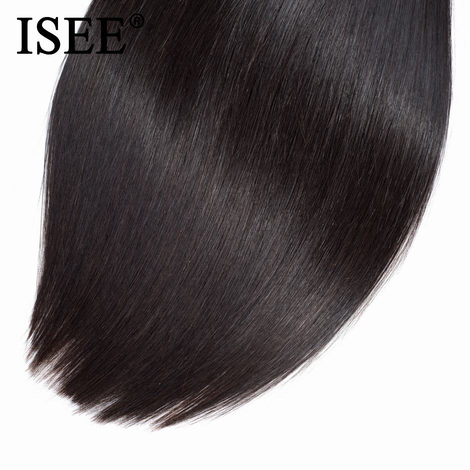 ISEE HAIR Malaysian Straight Hair Bundles 100% Remy Human Hair Extension Natural Color 1/3/4 Bundles Straight Hair Weaves 3