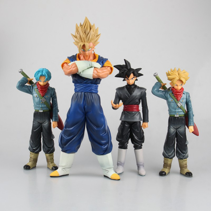 Anime Dragon Ball Super DXF The Super Warriors TRUNKS / SON GOKU BLACK The VEGETTO PVC Action Figures Collection Kids Toys Doll 100% original banpresto dxf the super warriors vol 3 collection figure super saiyan god ss vegetto from dragon ball super