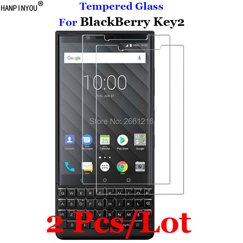 "2 Pcs/Lot For BlackBerry Key2 Tempered Glass 9H 2.5D Premium Screen Protector Film For BlackBerry KEYtwo Key 2 Two Athena 4.5""(China)"