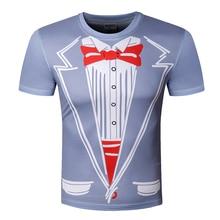 2016 New Tuxedo Funny Hotsale Men T Shirts leisure Top Tees 3D Print Tshirts Casual T-shirt Man Clothing Plus Size Short Sleeve