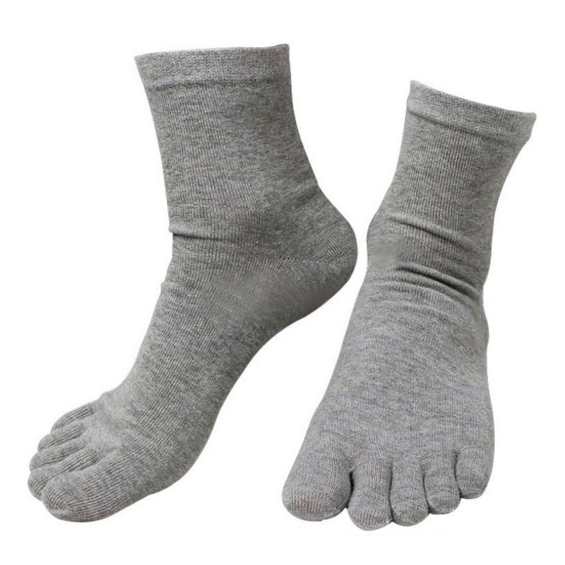 Hot Sale 10 Pairs/ Lot Fashion Spring Winter Style Meias Men Women's Socks Five Finger Cotton Polyester Breath Toe Sock 6 Colors