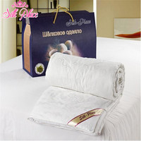 Brand Silk Place Natural High quality Mulberry Silk Comforter Russia Delivery White Silk Filled Quilt SP200 1000