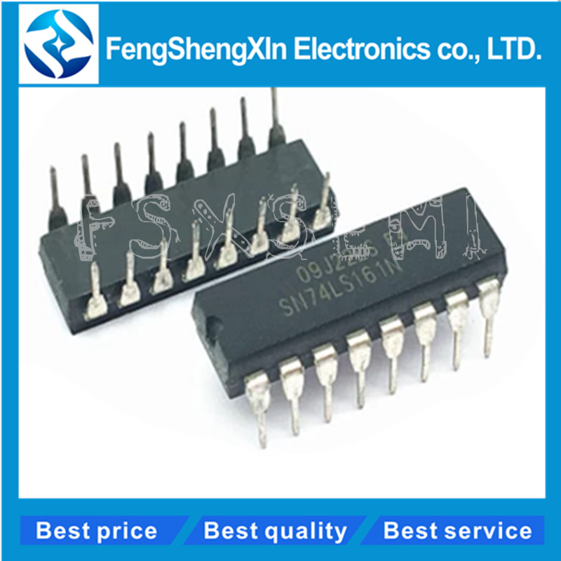 10pcs/lot SN74LS161N SN74LS161AN HD74LS161P HD74LS161AP 74LS161 DIP-16 BCD DECADE COUNTERS/ 4-BIT BINARY COUNTERS
