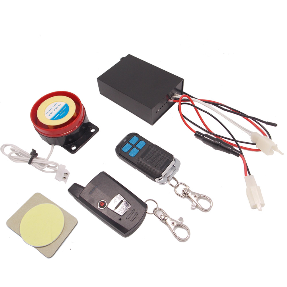 Motorcycle Two Way Alarm Scooter Moto 2 way Anti-theft Alarm Systems Security  Remote Control Vibration Alarm Engine Start