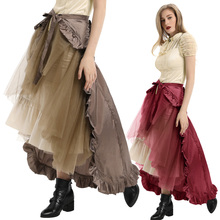 Women Skirt New Ruffles Victorian Bustle Gothic Retro Vintage Fashion Open Steampunk Elegant Hot Princess