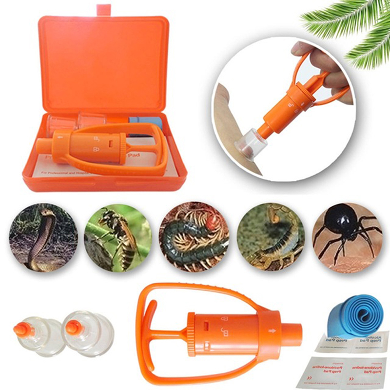 Safety Outdoor Emergency Tool Kit Emergency Snake Bite Survival Equipment Tools Set Venom Extractor Pump First Aid Kits