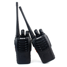 2 pcs Walkie Talkie Retevis H777 UHF 16CH HF Transceiver 2 Way Ham Handy Portable cb Radio Set A9105A