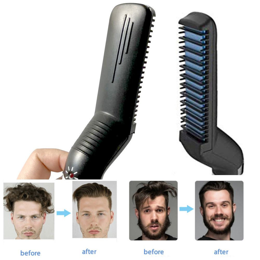 Electric Beard Straightening Comb For Men With Quick Beard Straightener Styler Comb 9