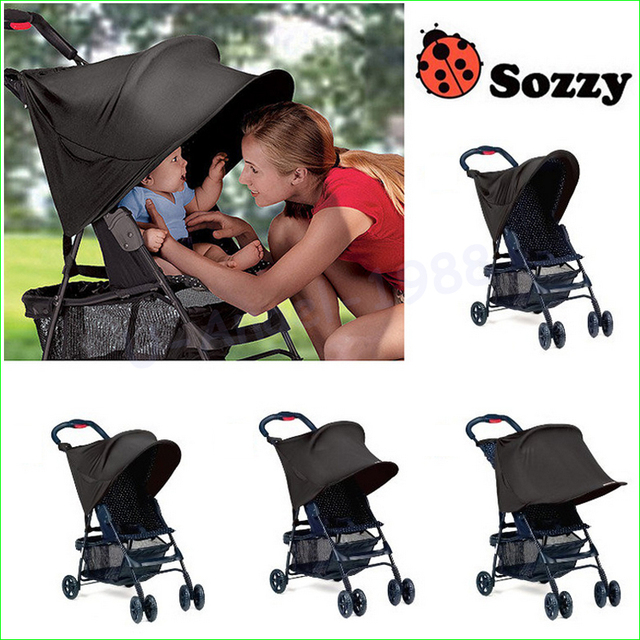 1pc Sozzy Baby Stroller Rag Shade Blocks 99% UV UVB Sun Rays Cover Baby Car Awning Rain Tent Multifunctional Stroller Protection