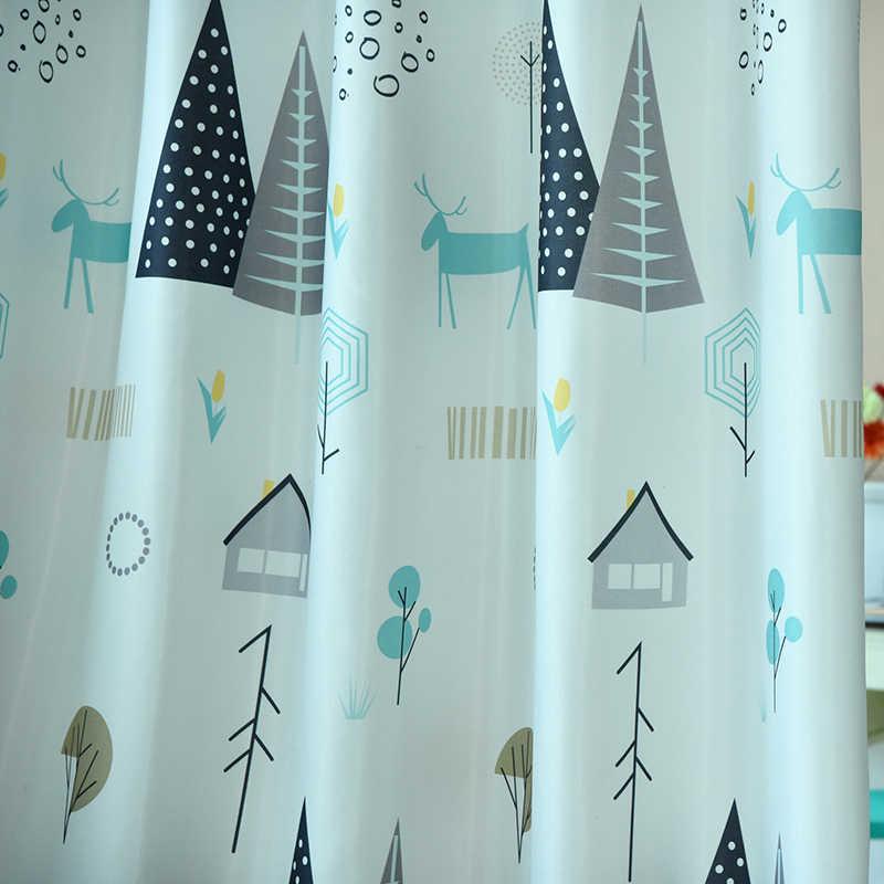QANHU современный летний дизайн природа красочное Окно Панель для штор для гостиной и спальни детская Удобная занавеска