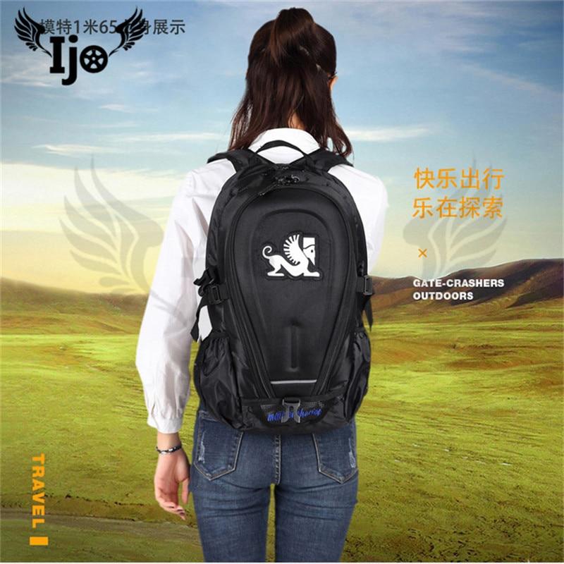 Ijo casque de moto sac à dos moto sac de course chevalier grande capacité sports de plein air sac d'équitation longue distance