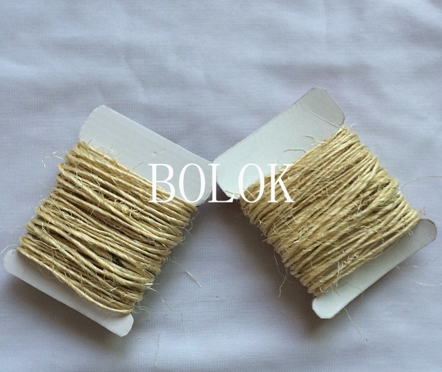 US $35 99 |20cards/lot(total (200meter) 100% natural 1 5mm twisted sisal  rope, sisal twine cords used in home, graden packing-in Party DIY  Decorations