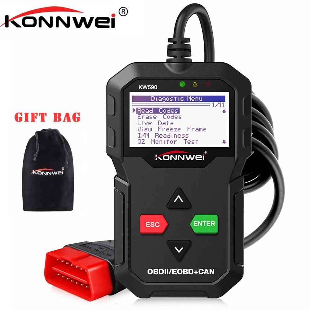 OBD2 Automotive Scanner KONNWEI KW590 OBD ODB2 Auto Diagnose Werkzeug in Russische Code Reader Auto Scanner Besser als AD310 ELM327