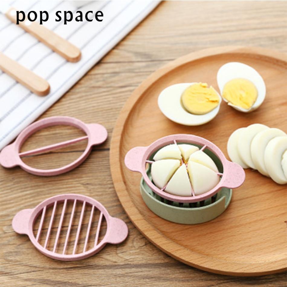 pop sapce Egg Slicer Cutter Cooking Tool Multifunctional Wheat Straw Mold Flower Edges Cutter Artifact Gadgets Kitchen Utensils