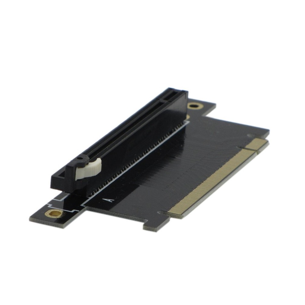 PCI-E Connector Card 90 Degree Right Angled Reverse Riser Extension Card MY