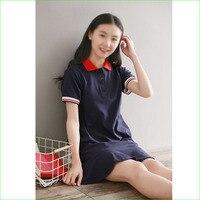 Good Quality Women Polo Neck Dress Tennis Badminton Sports Skirt Cotton Short Sleeve