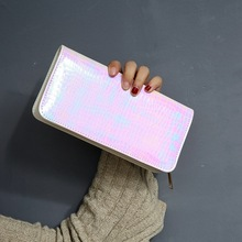 Laser Shining Snake Wallet Colorful PU Leather Long Clutch SF