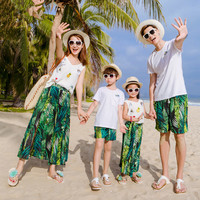 Family Clothing Outfits Fashion Print Summer T shirt + Skirts / Shorts Matching Family set For Mother Daughter And Father Son