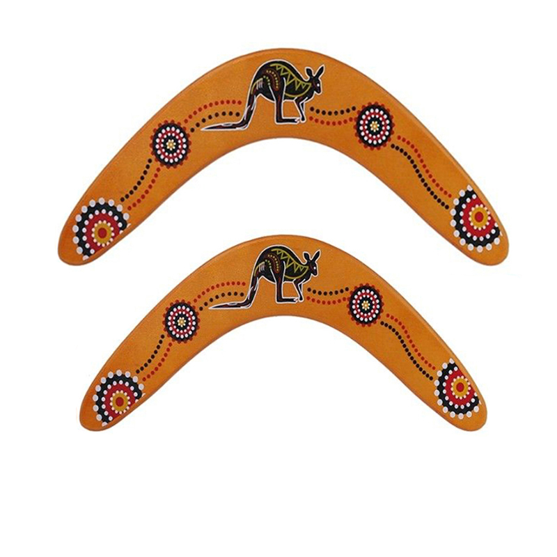 1pcs Outdoor Sports Wood  Professional Boomerang Dart Back V-Shaped Dart Flying Disc Toys For Kids Gift Cultivate Children