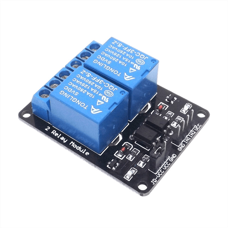 two channel 2 way relay module 5V with optocoupler protection relay expansion board MCU development board