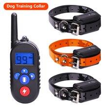 Colliers électroniques dentraînement pour chiens, rechargeables et étanches, écran LCD, télécommande 800 mètres, vibration des chocs, tonalité