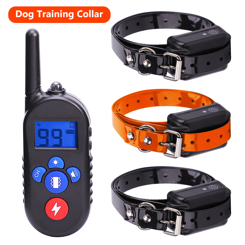 Rechargeable Waterproof Electronic Dog Training Collars Stop Barking LCD Display 800 yard Remote control Shock virbration