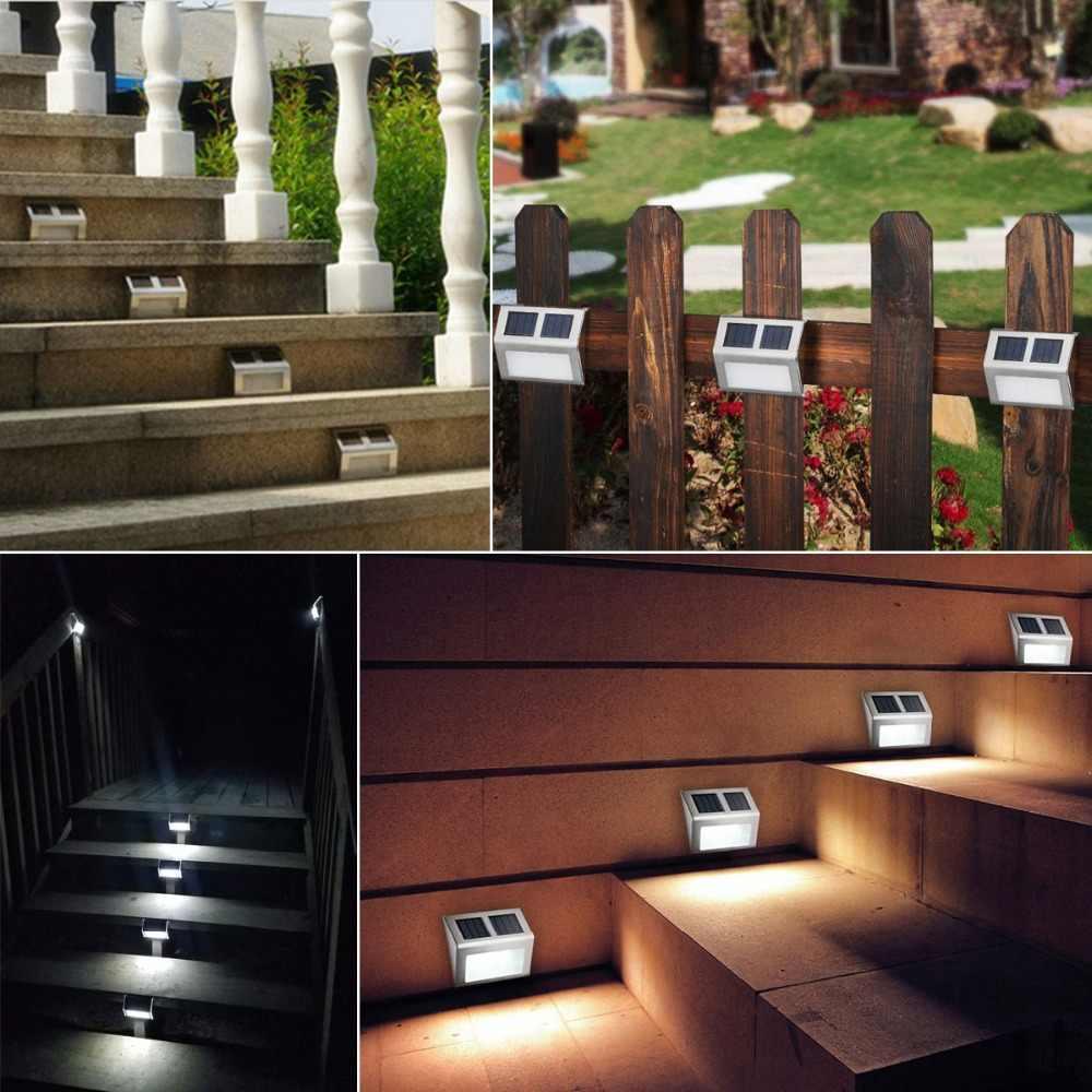 Светодиодный светильник на солнечной батарее, Датчик управления, водонепроницаемый настенный светильник, уличный светодиодный садовый светильник на солнечной батарее для патио, дорожка, лестница, шаг, ночной Светильник ing