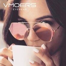 VMOERS Ladies Pink Mirror Sunglasses Women Aviator Luxury Brand Shades Sun Glasses For Women 2017 Designer Oculos Lunette Female