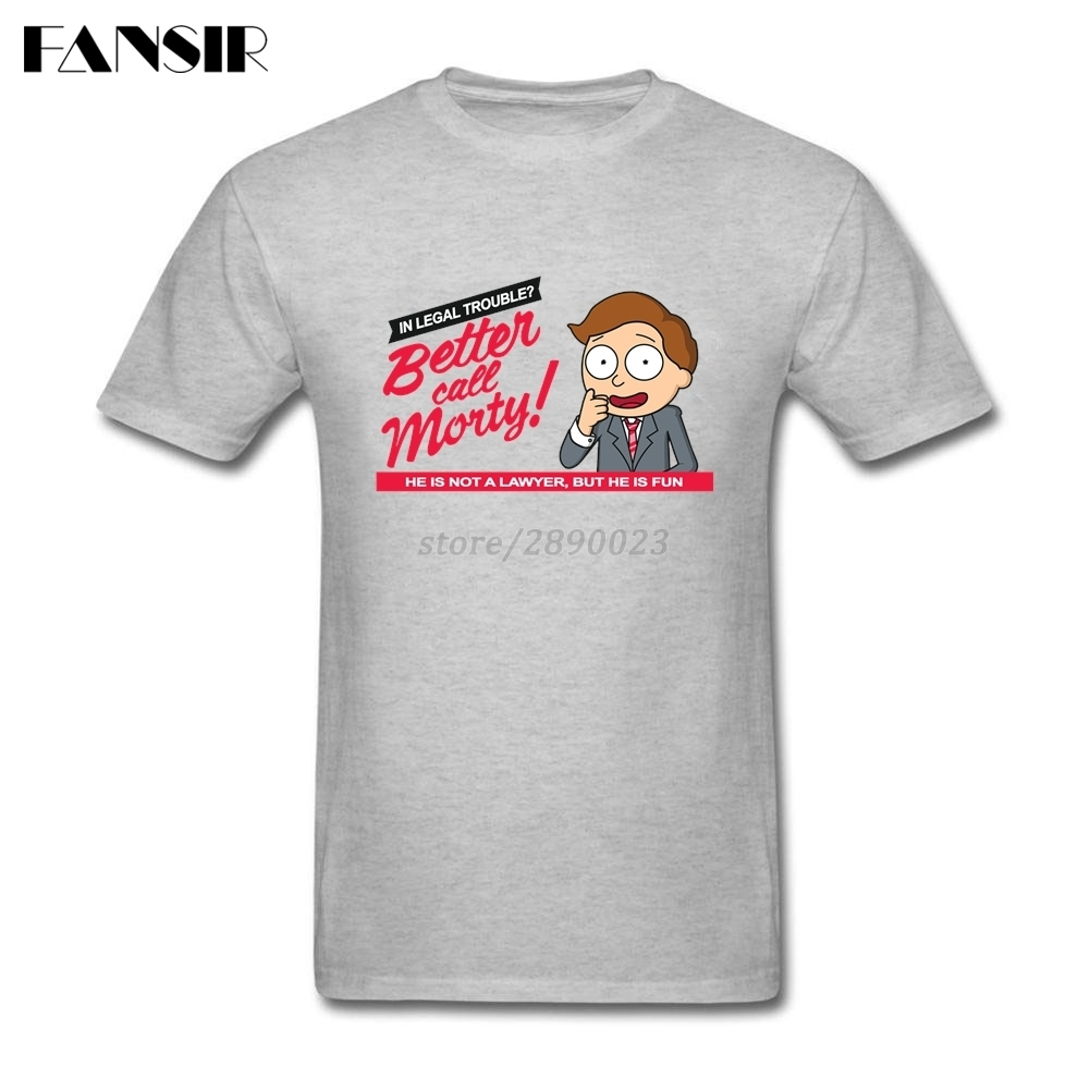 Plus Size Rick Morty Cartoon Better Call Morty Tailored T Shirt Men S 100 Cotton Short