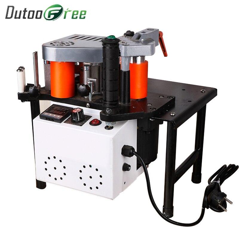 Dutoofree Edge Banding Machine Double Side Gluing Portable Edge Bander Woodworking Edge Banding Machine 110V/220V 1100W Manual
