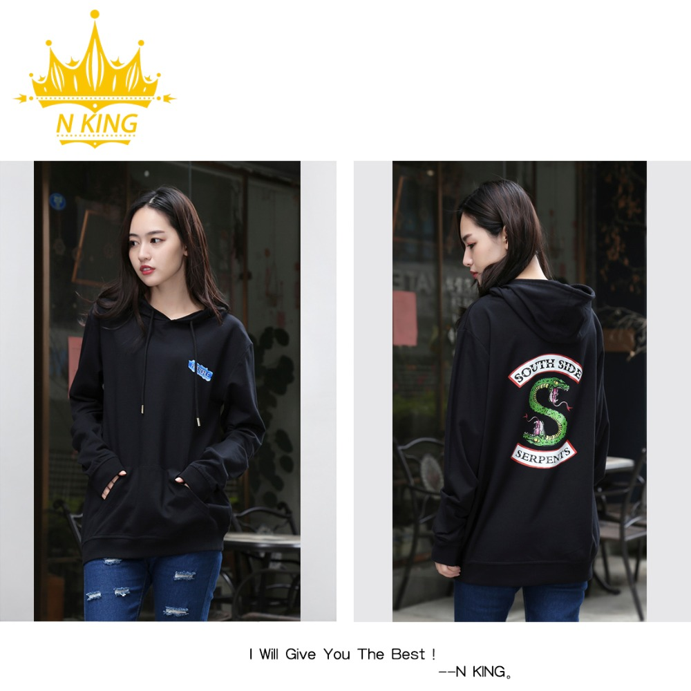 Harajuku Fashion High Quality Girl HD Riverdale HIGH Picture Hooded Sweatshirt Hoodie Male/Women Kpop Hoodies RU Free Shipping