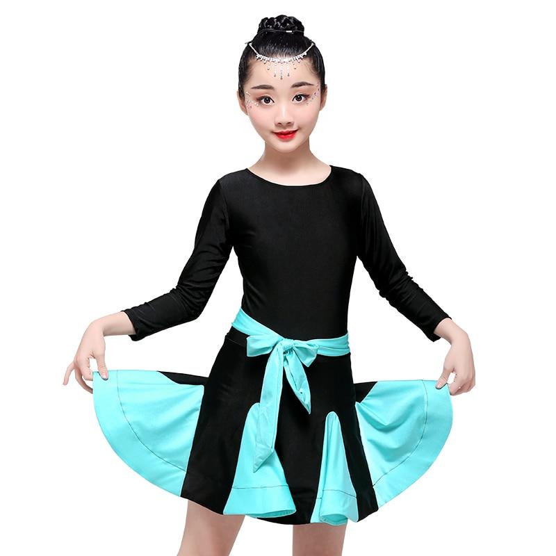 Musicr0xh3heh3s Acheter Filles Robe De Danse Latine Salsa Tango Salon Enfants Concurrence Tenues Costumes Jupe Pas Cher Prix