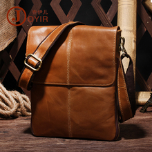 JOYIR Genuine Leather Men Bags Male Cowhide Flap Bag Casual Shoulder Crossbody bag Handbags Messenger Small Men Leather Bag 8613 недорого