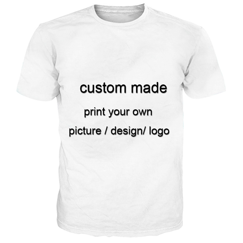 Color 41-62  Custom Made T Shirt  3d Printed Casual Brand Clothing Dropship
