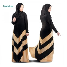 Tonlinker 2018 new Women Muslim Dresses Maxi Dubai Abaya Jalabiya Islamic Spring Dress Malaysia India Clothing plus size