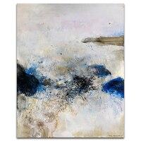 Синий абстрактный шикарный холст Книги по искусству живопись плакат Домашний декор живопись каллиграфия настенные панно для Гостиная Наст