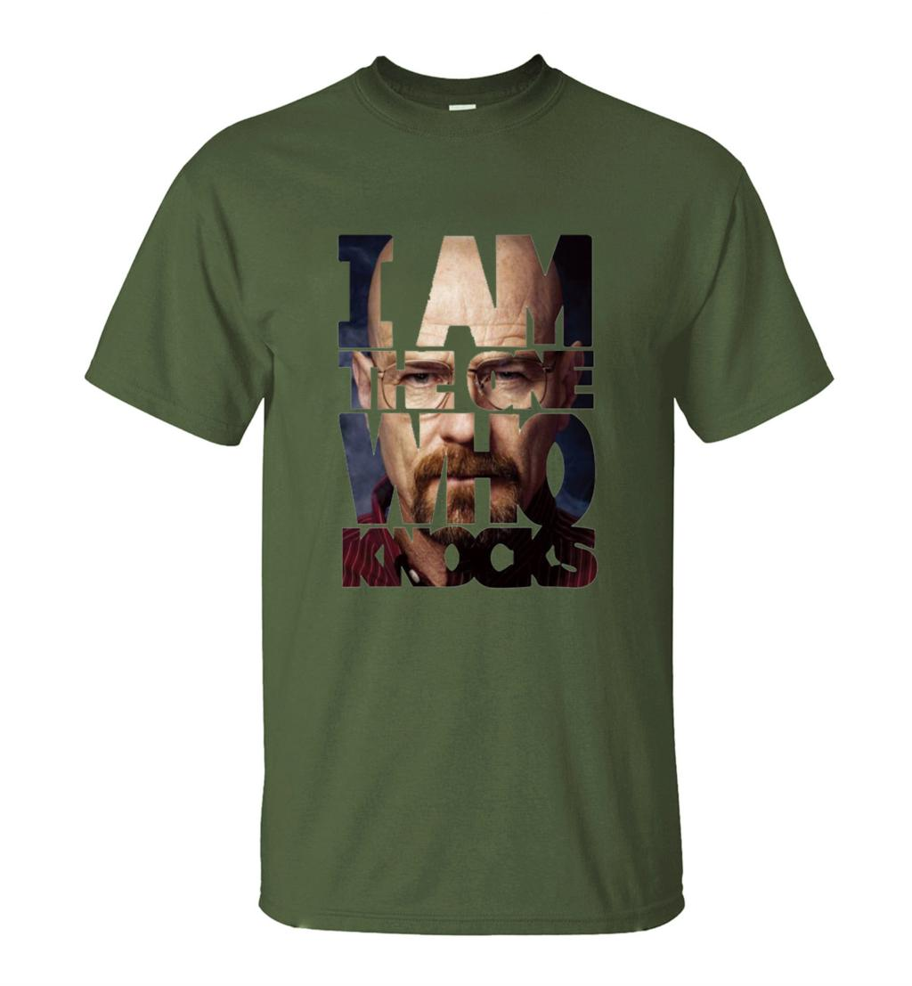 Men's harajuku I Am The One T-Shirt Summer 2019 New Fashion breaking bad T Shirts Short Sleeve O-Neck Streetwear Hip Hop Tops